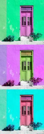 ¡Viva Mexico! Panoramic Collection - Tree Colorful Doors IX