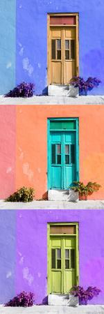 ¡Viva Mexico! Panoramic Collection - Tree Colorful Doors X
