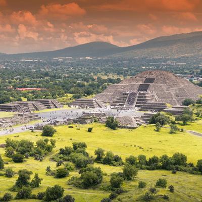 ¡Viva Mexico! Square Collection - Teotihuacan Pyramids VI