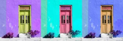¡Viva Mexico! Panoramic Collection - Tree Colorful Doors VII