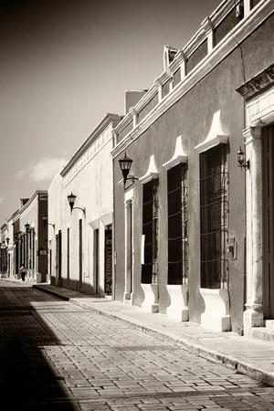 ¡Viva Mexico! B&W Collection - Campeche Street Scene IV