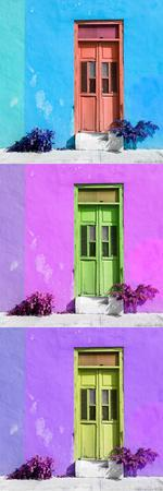 ¡Viva Mexico! Panoramic Collection - Tree Colorful Doors XIV