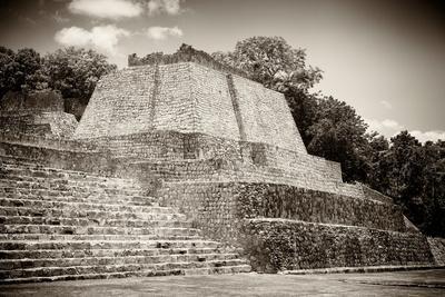¡Viva Mexico! B&W Collection - Maya Archaeological Site II - Edzna