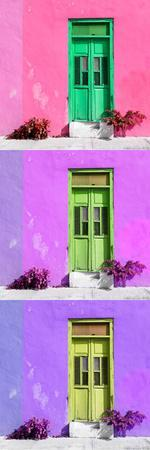 ¡Viva Mexico! Panoramic Collection - Tree Colorful Doors XV