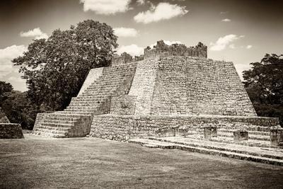 ¡Viva Mexico! B&W Collection - Maya Archaeological Site VII - Edzna