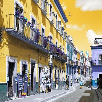 ¡Viva Mexico! Square Collection - Yellow Street in Guanajuato