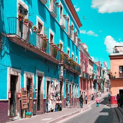 ¡Viva Mexico! Square Collection - Turquoise Street in Guanajuato