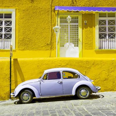 ¡Viva Mexico! Square Collection - VW Beetle Car and Yellow Wall
