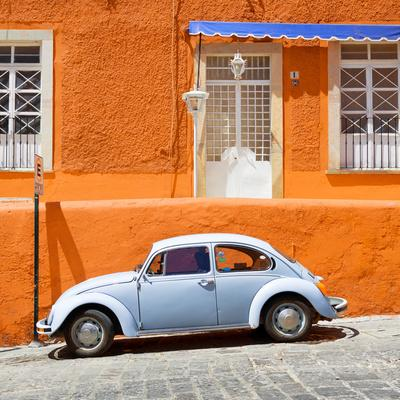 ¡Viva Mexico! Square Collection - VW Beetle Car and Orange Wall