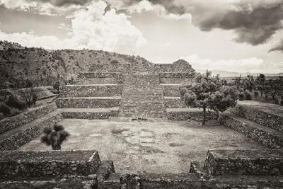 ¡Viva Mexico! B&W Collection - Pyramid of Puebla V (Cantona Ruins)