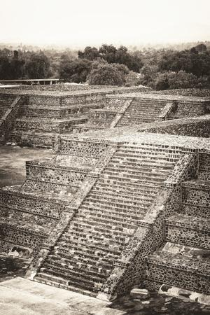 ¡Viva Mexico! B&W Collection - Teotihuacan Pyramids - Archaeological Site