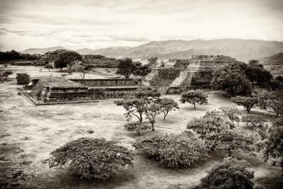 ¡Viva Mexico! B&W Collection - Monte Alban Pyramids VII