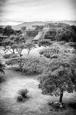 ¡Viva Mexico! B&W Collection - Monte Alban Pyramids VI