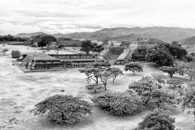 ¡Viva Mexico! B&W Collection - Monte Alban Pyramids VIII