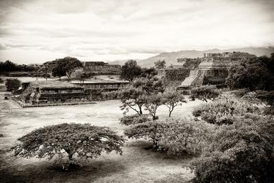 ¡Viva Mexico! B&W Collection - Monte Alban Pyramids III