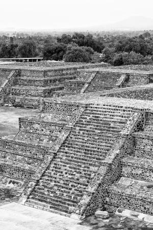 ¡Viva Mexico! B&W Collection - Teotihuacan Pyramids II - Archaeological Site