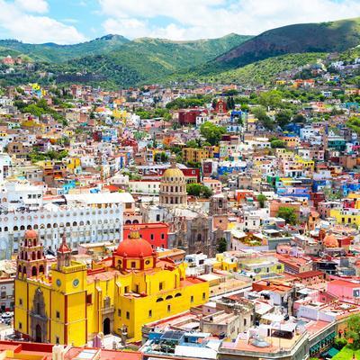 ¡Viva Mexico! Square Collection - Guanajuato Cityscape I