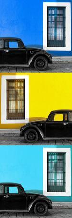 ¡Viva Mexico! Panoramic Collection - Three Black VW Beetle Cars XX