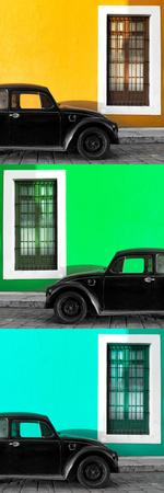 ¡Viva Mexico! Panoramic Collection - Three Black VW Beetle Cars XXI