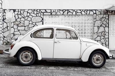¡Viva Mexico! Collection - White VW Beetle Car
