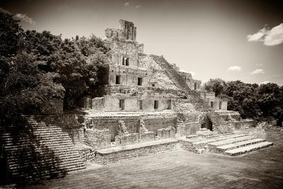 ¡Viva Mexico! B&W Collection - Maya Archaeological Site VI - Campeche