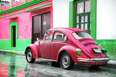 ¡Viva Mexico! Collection - VW Beetle and Deep Pink Wall