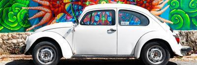 ¡Viva Mexico! Panoramic Collection - White VW Beetle Car in Cancun