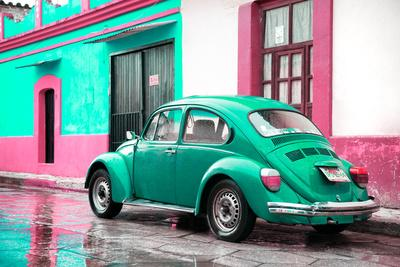 ¡Viva Mexico! Collection - VW Beetle and Coral Green Wall