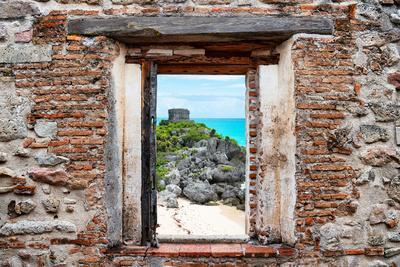 ¡Viva Mexico! Window View - Tulum Ruins