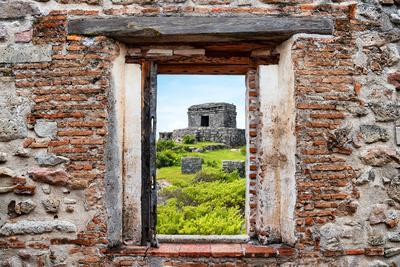 ¡Viva Mexico! Window View - Ancient Mayan Fortress in Tulum