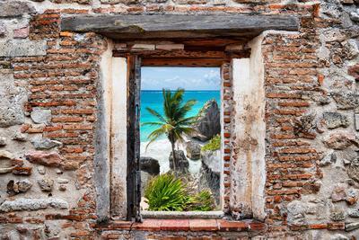 ?Viva Mexico! Window View - Caribbean Coastline in Tulum