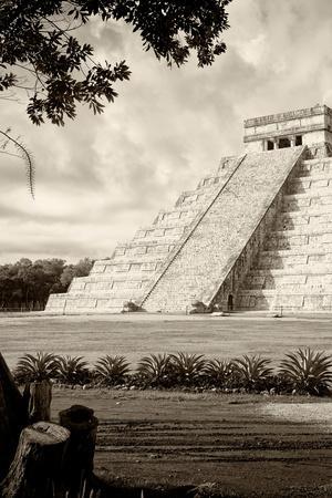 ¡Viva Mexico! B&W Collection - Chichen Itza Pyramid III