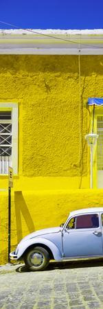 ¡Viva Mexico! Panoramic Collection - VW Beetle Car and Yellow Wall