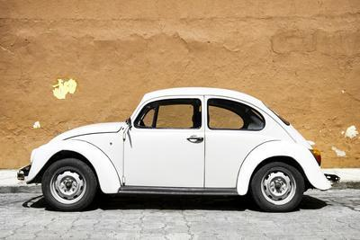 ¡Viva Mexico! Collection - White VW Beetle Car and Caramel Street Wall