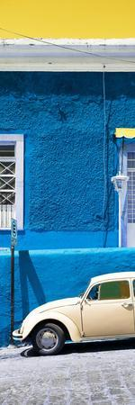 ¡Viva Mexico! Panoramic Collection - VW Beetle Car and Blue Wall