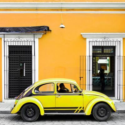 ¡Viva Mexico! Square Collection - VW Beetle Car - Gold & Yellow