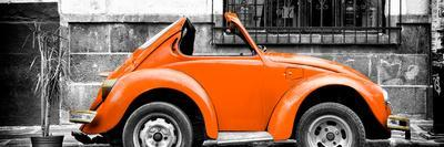 ¡Viva Mexico! Panoramic Collection - Small Orange VW Beetle Car