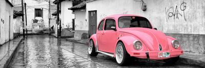 ¡Viva Mexico! Panoramic Collection - Pink VW Beetle Car in San Cristobal de Las Casas