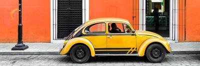 ¡Viva Mexico! Panoramic Collection - VW Beetle Car - Orange & Gold
