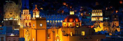 ¡Viva Mexico! Panoramic Collection - Yellow Church by Night II - Guanajuato