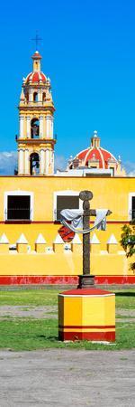 ¡Viva Mexico! Panoramic Collection - Courtyard of a Church - Puebla