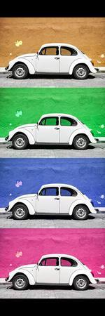 ¡Viva Mexico! Panoramic Collection - White VW Beetle Cars II