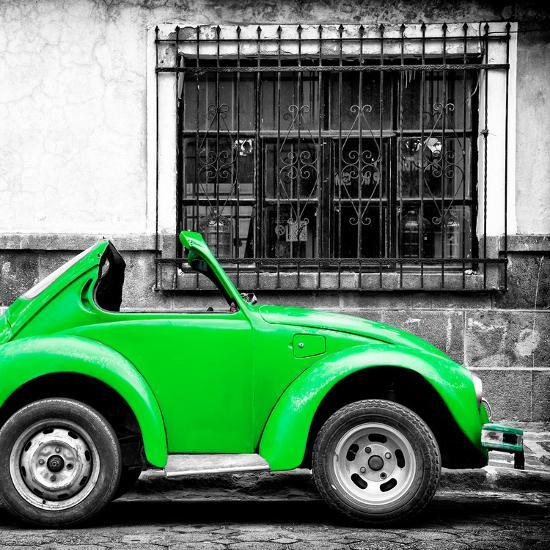 Square Collection Small Green Vw Beetle Car Photographic Print By Philippe Hugonnard At Allposters