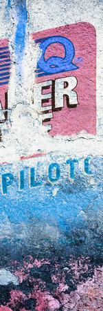 ¡Viva Mexico! Panoramic Collection - Blue Grunge Wall II