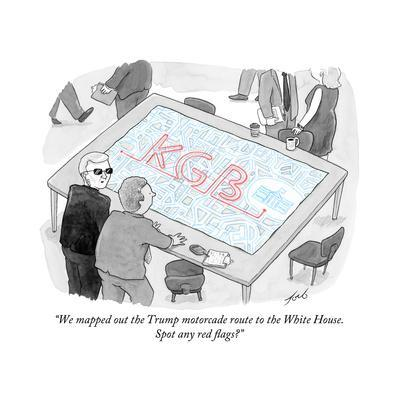 """""""We mapped out the Trump motorcade route to the White House."""" - Cartoon"""
