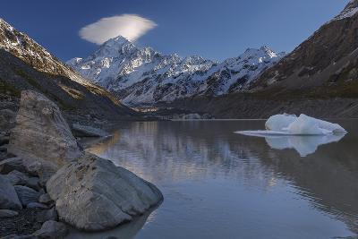 Mount Cook - Aoraki (Height 3754M) With Cap Cloud Forming