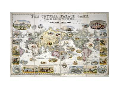 The Crystal Palace Game, Voyage Round the World, 1855