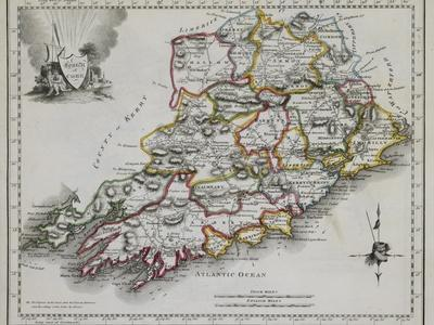 County of Cork, from New and Correct Irish Atlas, c. 1825