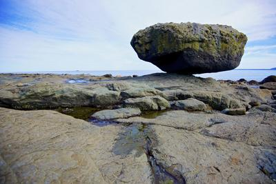 Balance Rock on the East Coast of Graham Island. it Is a Glacial Erratic from the Last Ice Age
