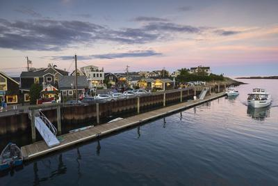 Maine, Ogunquit, Perkins Cove, Boats in a Small Harbor